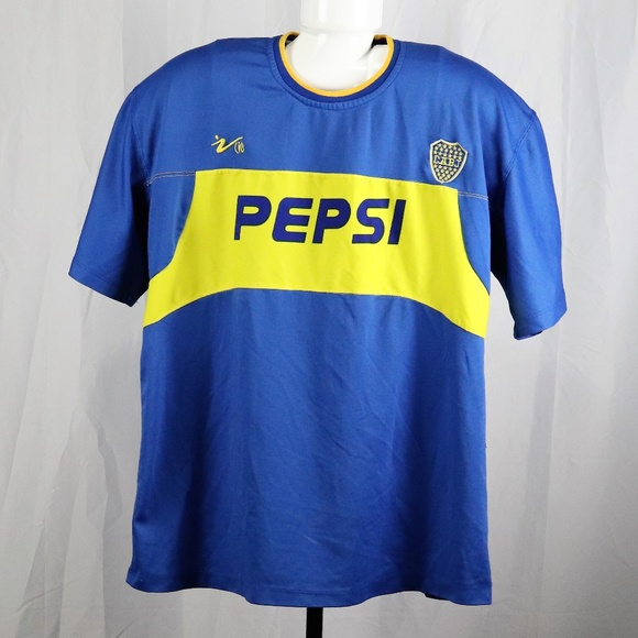 premium selection 2ae0a ba417 Pepsi Boca Juniors Argentina Soccer Jersey